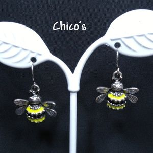 Chico's Bee Drop Earrings, New With Tags